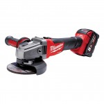 Milwaukee M18 CAG-115 X-502X + HD Box FUEL Akku-Winkelschleifer