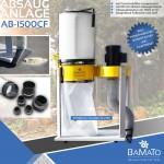 BAMATO Absauganlage AB-1500CF mit Feinstaubfilter und Adapter Set (230V)