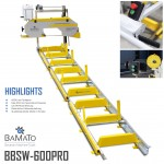 BAMATO Blockbandsäge BBSW-600PRO mit 6,9m Rollbahn