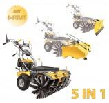BAMATO Kehrmaschine KEM-1000 mit Sammelbehälter / Schneeschild / E-Start