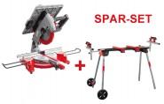 Holzmann SPARSET Tisch- und Gehrungssäge TK 305 und Maschinenständer USK 2900