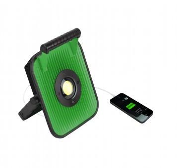 BERG BCL Sound LED Akku-Strahler - Bluetooth Speaker USB-Anschluss