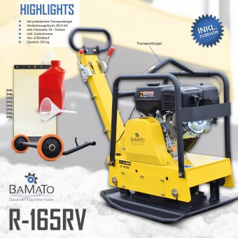BAMATO Rüttelplatte R-165RV mit Vor- und Rücklauf