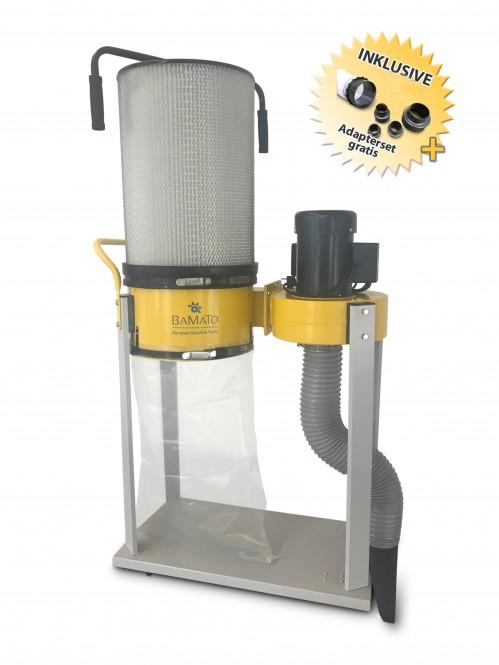 BAMATO Absauganlage AB-1500CF mit Feinstaubfilter und Adapter Set